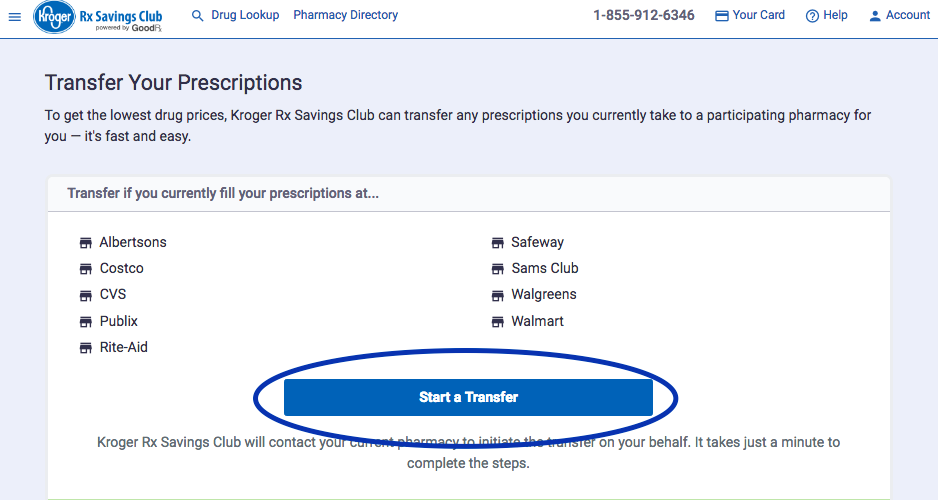 How do I transfer my prescriptions to a Kroger pharmacy