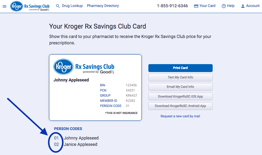 How do I find my person code? – Kroger Rx Savings Club (RxSC)