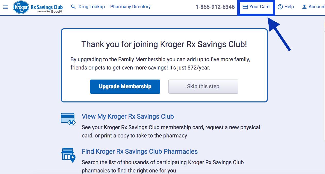 How do I access my temporary Kroger Rx Savings Club card? – Kroger